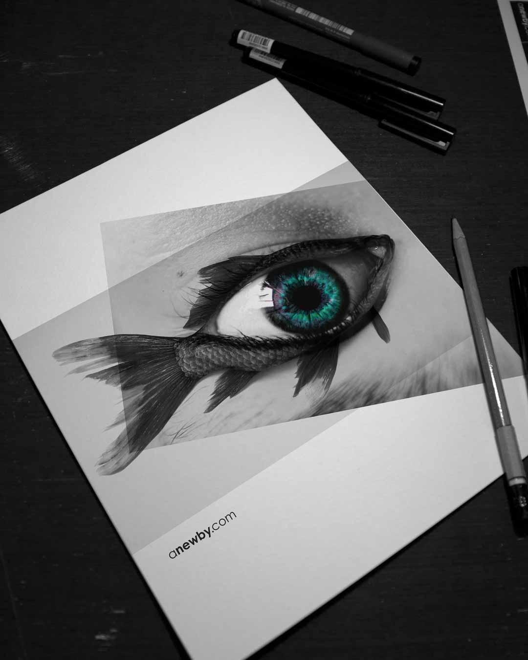 Fish Eye Print 8x10