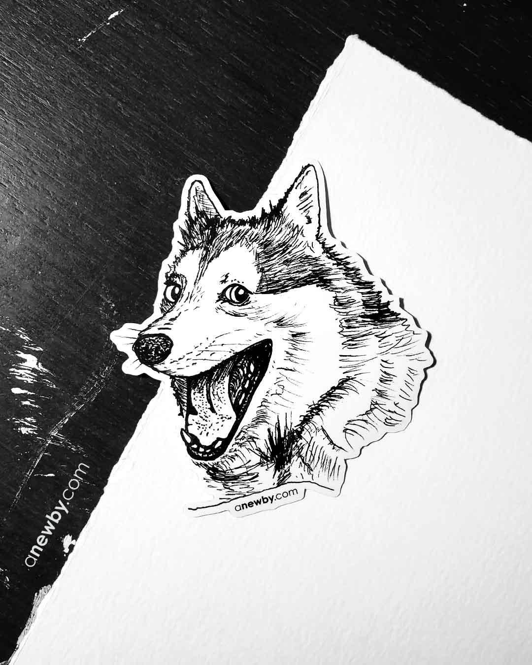 Pun Dog Sticker by Newby