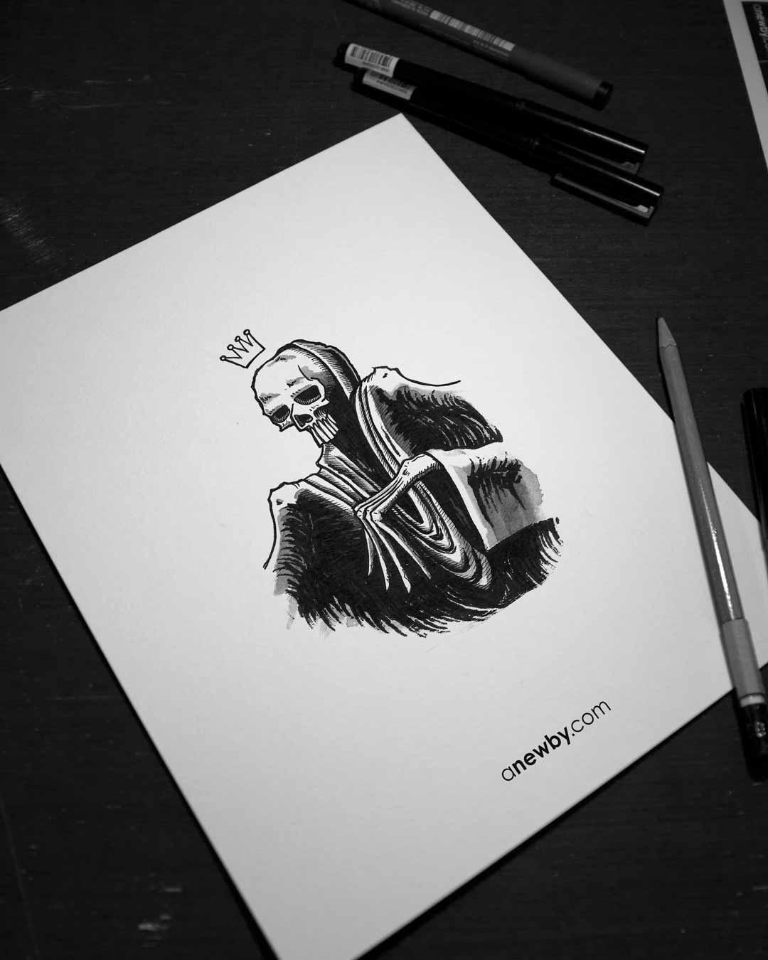 Skull Prince 8x10 Print