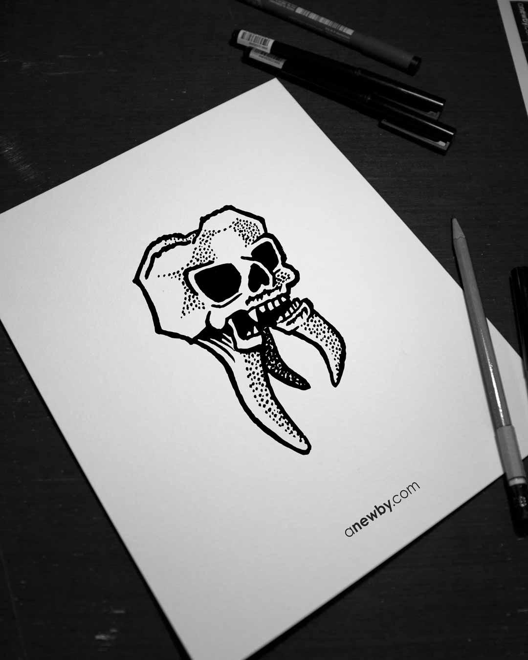 Skulltooth Print 8x10