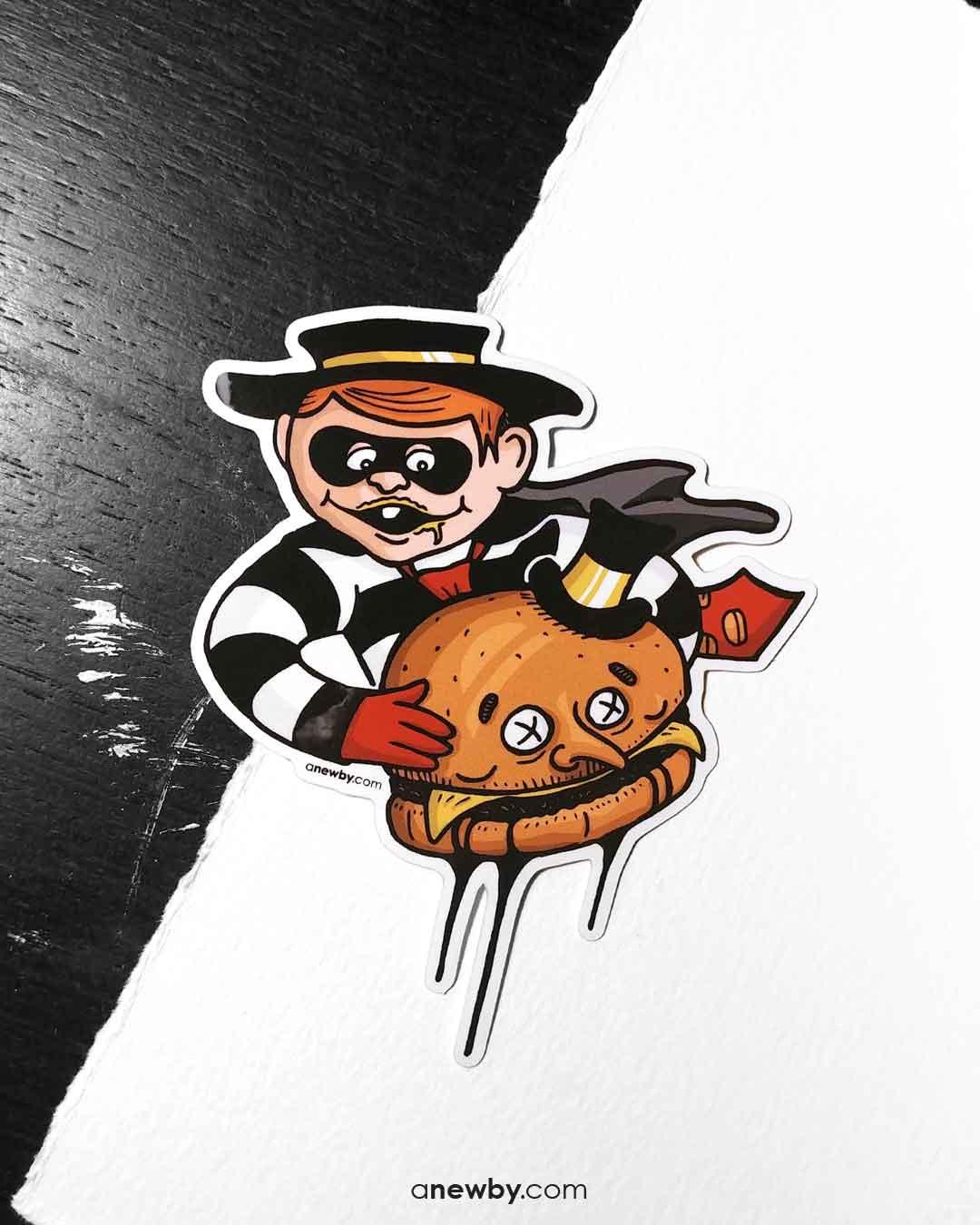 Burglar Sticker by Newby