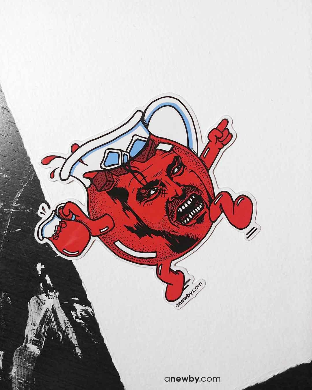 Kool Johnny Sticker by Newby