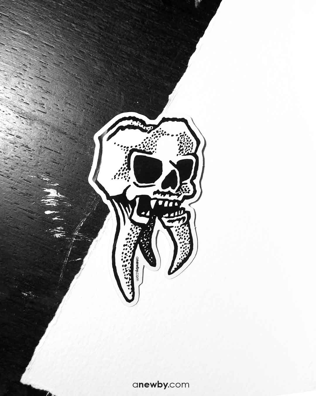 Skulltooth Sticker
